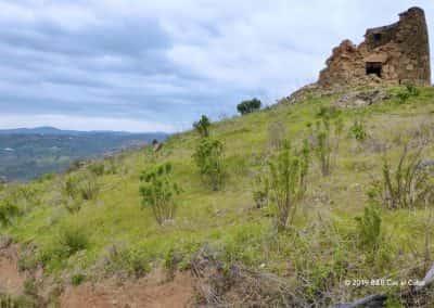 Heuvel, molen ruïne, Serra do Caldeirão, uitzicht, wandelen
