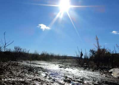 Wandelroute Pereiro met pad in de volle zon