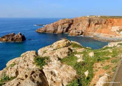 Atlantische rotskust West-Algarve langs Fishermands trail