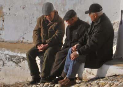 Oude mannen bankje Estoi