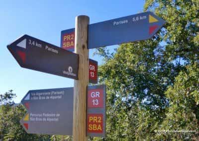 Wandelroute SBA PR2 (Parizes) kruist langeafstand wandelpad Via Algarviana (GR13)