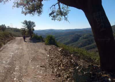 Uitzicht vanaf de heuvelkam boven Pero de Amigos