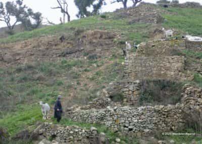 Een schaapsherder in de Serra do Caldeirão op wandeling LLE PR Aguas Frias