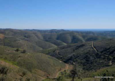 Panorama vanaf de Alcaria do Cume, start van de wandeling