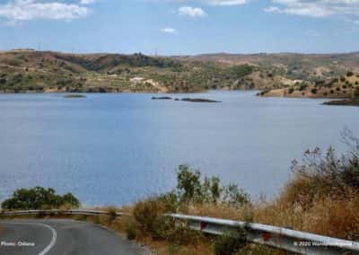 Het stuwmeer van Beliche verzorgt drinkwater voor meer dan 500.000 mensen op CTM PR2