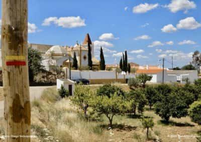 De kerk van Azinhal op wandeling CTM PR3 van Castro Marim