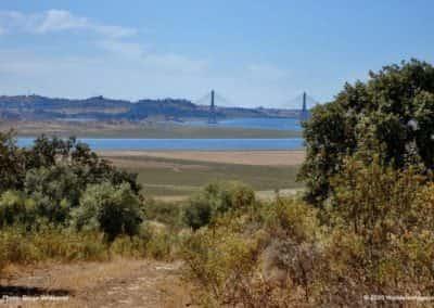 Uitzicht op de brug over de Guadiana op rondwandeling CTM PR3