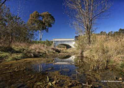 De brug over de rivier Vascão die de Algarve verbindt met de Alantejo op wandeling LLE PR1