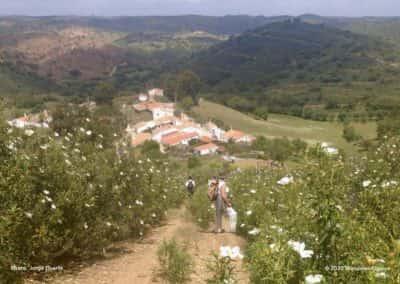 Gehuchten, diep in de heuvels van de Algarve op wandelroute LLE PR21