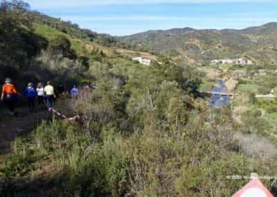 Ribeira Alportel meandert door het landschap tijdens een wandeling van gemeente Tavira