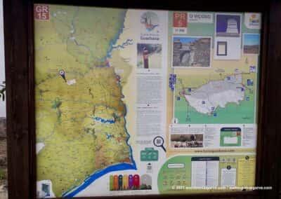 Alcoutim wandelingen informatiebord